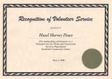 Recognition of Volunteer Service