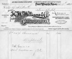 Invoices from H.W. Williams & Company