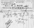 Invoice from A.J. Roe, Lumber Dealer