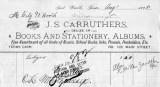 Invoice from J.S. Carruthers