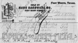 Requisition Form and Invoice from Nash Hardware Company