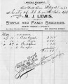 Invoice from M.J. Lewis