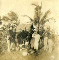 American Infantry in Philippine Village