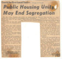 Public Housing Units May End Segregation