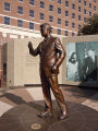 Bronze Statue of JFK-Side View